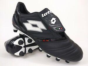 Lotto Mens Rare Vento Diablo KL Due FG Black White Soccer Cleats Shoes Size 9