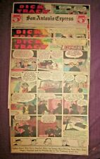 "Rare 1935-4 Weeks ""Dick Tracy"" Full Page Sunday Newspaper Color Comic Strips"