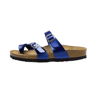 Birkenstock Mayari Womens Electric Ocean Birko-Flor w/ EVA Sole Sandals US 6.5 M