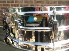 Ludwig Blue/Olive Supraphonic Chrome over Aluminum Snare Drum 5x14 1970 Chrome