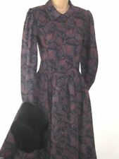 Autumn Collar Dresses for Women with Buttons