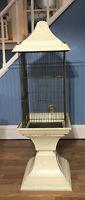Vtg Mid century Modern Molded Plastic Bird Cage Pedestal Floor Hang Planter RARE