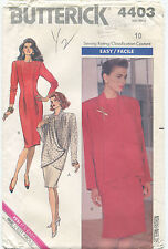 Butterick 4403 Misses Vintage Jacket & Dress Sewing Pattern ~ Sz 10 ~ Uncut