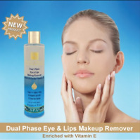 Dual-Phase Eye & Lips Makeup Remover Enriched with Vitamin E H&B Dead Sea 250 ml
