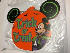 Disney, Mickey Mouse Halloween Wood Sign