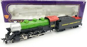 HO IHC Meridian & Bigbee River 2-8-0 Steam Locomotive & Tender #42 - SERVICED