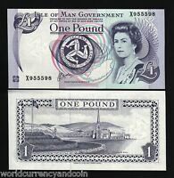 ISLE OF MAN 1 POUND P40 1983 QUEEN UNC X PREFIX CURRENCY MONEY BILL UK BANK NOTE