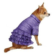 ESC Purple Ruffle Parka Dog Pet Ultra Violet Nylon Coat Jacket Insulated Lrg/Med