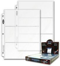 100 BCW 3 Pocket Currency Binder Pages