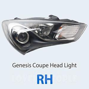 Driver side WITH install kit 6 inch 100W Halogen -Black 2013 Hyundai GENESIS SEDAN Post mount spotlight