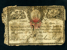 Portugal:P-38A,5000 Reis/5$000,1828 (1798) * Young Couple * Old *