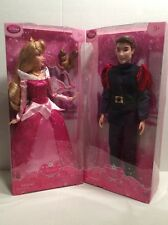 "DISNEY Store Princess Aurora & Prince Phillip  12"" Doll Barbie Set of 2 NEW"