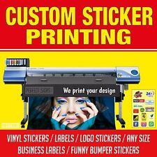 BULK Adesivo Vinile Stampa Personalizzata il tuo Design Etichette Decalcomanie Adesivi Logo Stampa