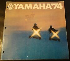 """HUGE 1974 YAMAHA SNOWMOBILE SALES BROCHURE 28 PAGES  GPX 11"""" x 11""""  (751)"""