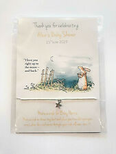 Baby Shower Favour, Nutbrown Hare/Peter Rabbit Friendship wish bracelet, gift