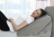"""Bed Wedge Pillow Adjustable 9"""" to 12"""" Incline, Legs and Back Support Cushion"""