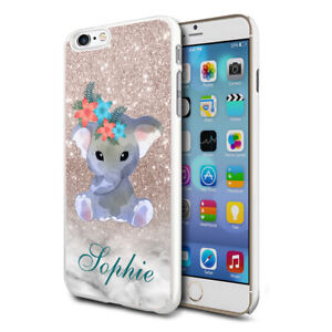 Personalised Baby Elephant Phone Case Cover For Apple Samsung Initial Name