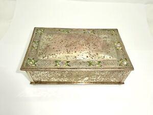 ANTIQUE L.C.TIFFANY FURNACES 130 DORE BRONZE GREEN FAVRILLE INSERT DRESSER BOX