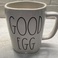 Rae Dunn Good Egg/Bad Egg Mug Double Sided White