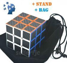 Magic ABS Carbon Fiber Speed Cube Rubik's Puzzle Twist Kids Gift Black 3x3 Rubix