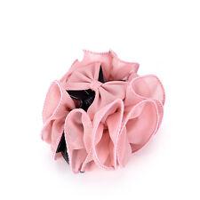 Fashion Womens Chiffon Rose Flower Bow Jaw Clip Barrette Hair Claw Gift TO