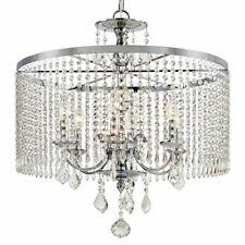 Fifth and Main Lighting 3-Light Polished Nickel Chandelier w/K9 Crystal Dangles