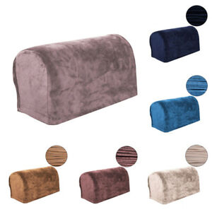 2PCS Sofa Armrest Cover Velvet Arm Chair Protector Armchair Couch Slipcover Pair