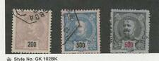 Portugal, Postage Stamp, #129-130, 131a Used, 1895-96