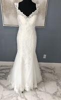 Wedding Dress Lace Nancy Ivory Size 16