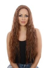 Avril Lace Front Extra Long Thick Wig | Light Crimped Wavy Texture | 3 Shades