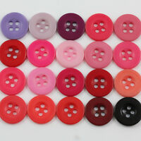 ROUND COLOURED ACRYLIC BUTTONS 5 SIZES*25 COLOUR DRESSMAKING FABRIC HABERDASHERY