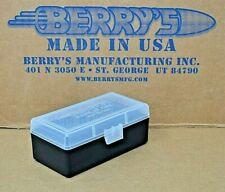 9mm /.380 Plastic Storage Ammo Boxes (Clear / Black) Berrymfg Buy 3 Get 1 Free