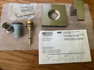 Delta T11867-SS Ara 1-Handle 3-Setting Custom Shower Diverter Valve Trim Kit