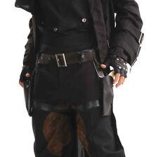 ADULT #1920s & 1930s BLACK STEAMPUNK DOUBLE GUN HOLSTER FANCY DRESS ACCESSORY