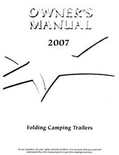 2007 Starcraft Folding Camping Popup Trailer Owners Manual