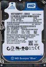 WD7500BPVT-08HXZT3 DCM: HBOTJHBB WX31C Western Digital 750GB