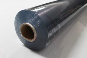 Klarsichtfolie PVC transparente Plane/ Stärke: 0,5 mm/ Breite: 1,40m (Meterware)