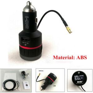 Universal Digital Radio Adapter Receiver Car DAB+Tuner FM Transmitter W/Antenna