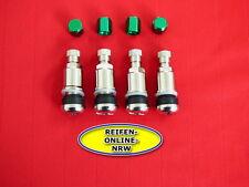 4x Metallventil mit Kunststoffscheibe SW11 Reifenventile Autoventile+Alukappen