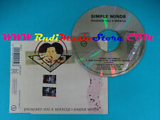 CD Singolo Simple Minds Promised You A Miracle THEME 5 UK 1990 no mc lp vhs(S25)