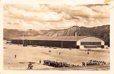 Real Photo Postcard Military Troops at Regimental Drill Hall on Base~117881