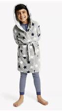 Marks & Spencer M&S Boys' Marl Star Robe, Grey Age 11-12