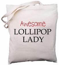 Awesome Lollipop Lady - Natural Cotton Shoulder Bag - Gift
