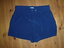 Quality  Ladies Womens  - Shorts - Size 10 - Navy Blue Colour - Elastic + Tie