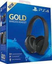 CUFFIE PS4 GOLD WIRELESS HEADSET SONY PLAYSTATION 4 7.1 - ORIGINALI - PC MAC