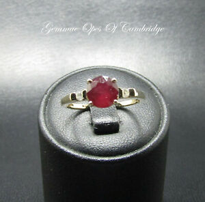 9K gold 9ct Gold Ruby and Diamond Ring Size N 1.71g US Size 6 3/4