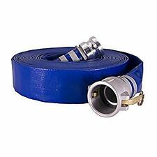 "3"" x 50' Blue PVC Discharge hose with M x F Cam Locks"