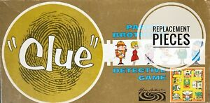 Clue Board Game Vintage 1963 Replacement Pieces and Parts - You Choose