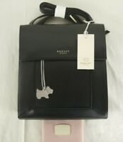 Radley Border Black Leather Cross Across Body Shoulder Bag Small To Medium New