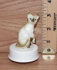 "The San Francisco Music Box Company ""Memory"" Ceramic Siamese Musical Figurine"